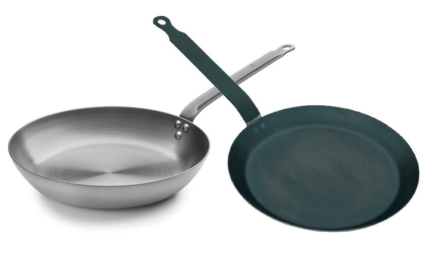 Poêle en fer ou en acier tôle bleue : laquelle choisir ?